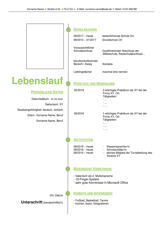 Bewerbung Schreiben Deckblatt Anschreiben Lebenslauf Unterrichtsmaterial Im Fach Deutsch Lebenslauf Bewerbung Schreiben Anschreiben