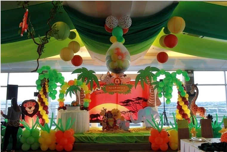 Adding balloon bamboo garland are also good complement for
