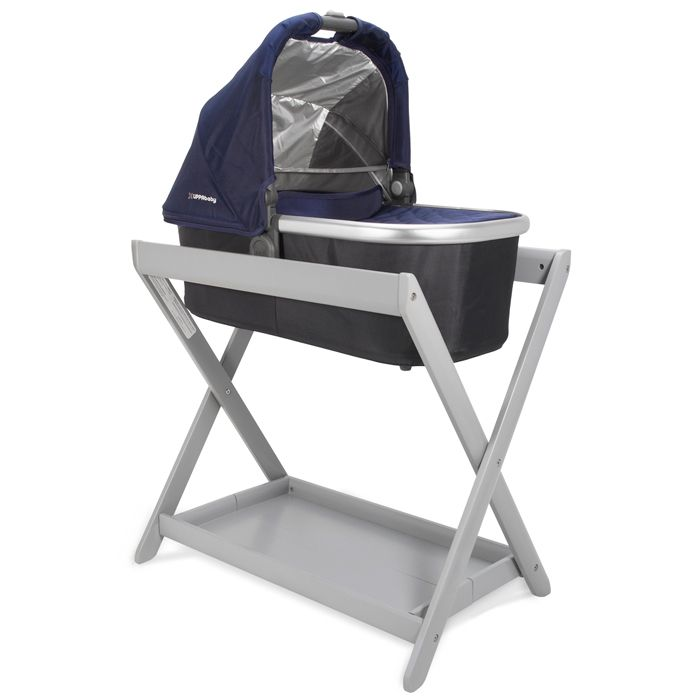 Uppababy Vista Bassinet Stand With Bassinet Baby
