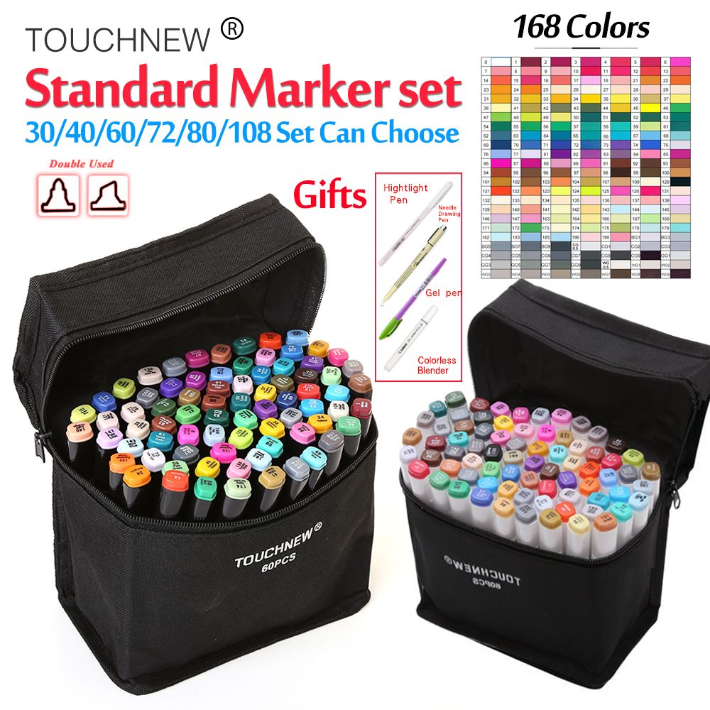 Touchnew30/36/40/48/60/72/80Colors Student Marker Set Dual