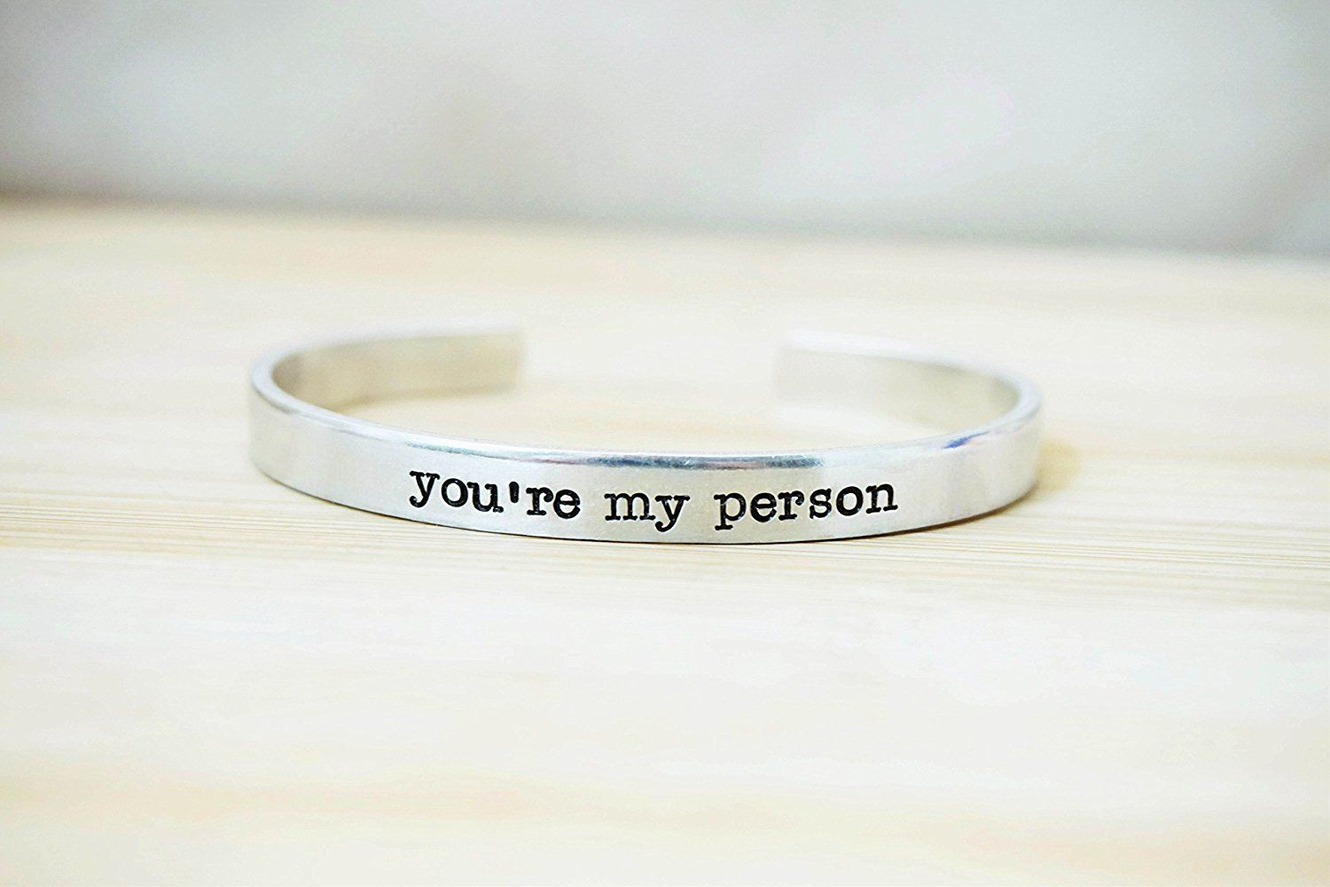 Greys Anatomy You're my Person Hand Stamped Cuff Bracelet ...
