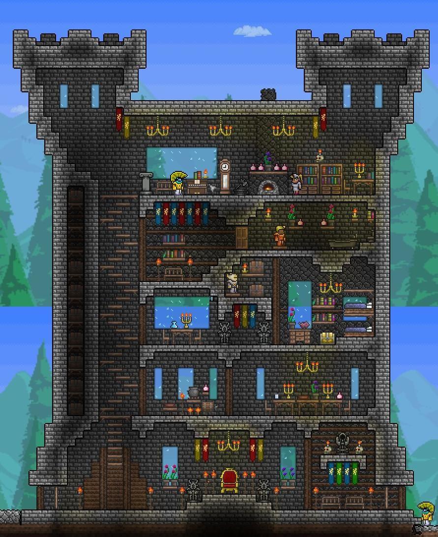 Pin By Redxdragon12 On Good Building Ideas For Terraria Terraria