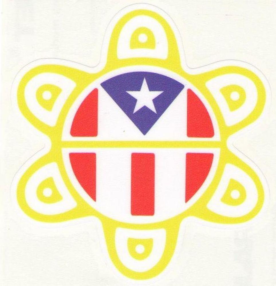 puerto rico flag sol taino car sticker decal ebay pr. Black Bedroom Furniture Sets. Home Design Ideas