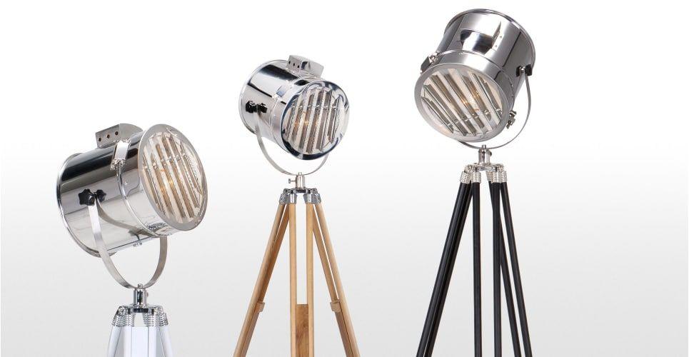 Alfred staande lamp op driepoot in naturel hout pinterest hout