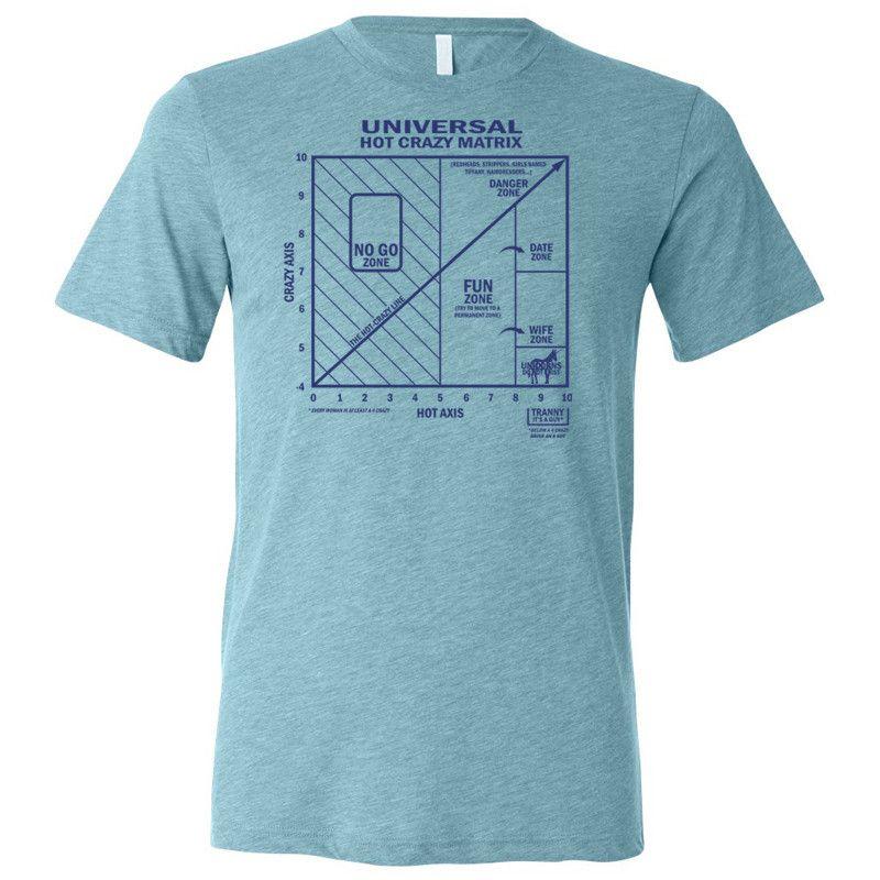 Hot Crazy Matrix T Shirt Aqua