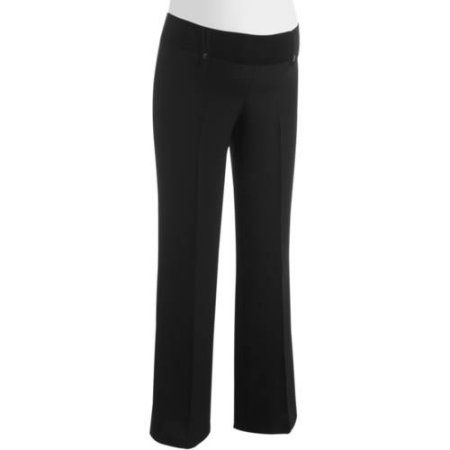 9259a3c78f791 Planet Motherhood Maternity Demi-Panel Career Pants with Belt Loops,  Girl's, Size: Large, Black
