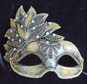 Teen Mask Cascade Silver Mask Mardi Gras Venetian Halloween Masquerade