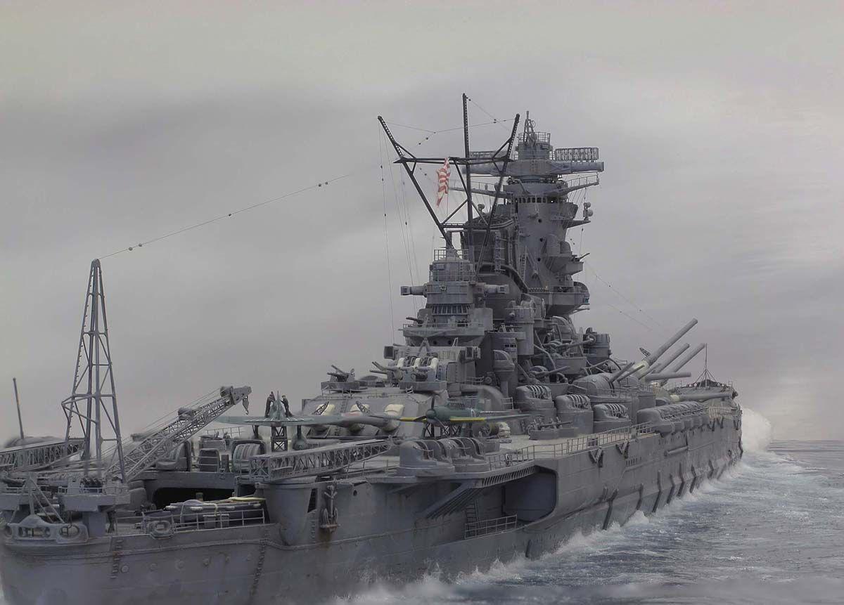 戦艦大和が進む壁紙