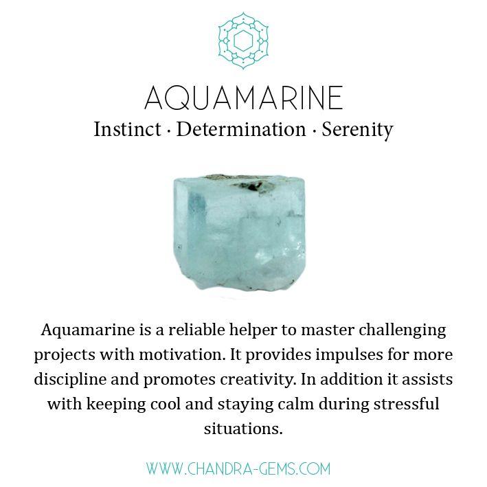 Aquamarine Instinct Determination Serenity #crystalmeanings
