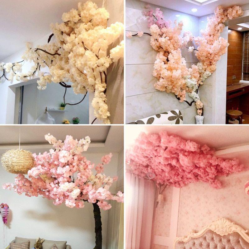 Hair Clip Sakura Cherry Blossom Polymer Clay Flowers Etsy Polymer Clay Flowers Clay Flowers Flower Jewellery