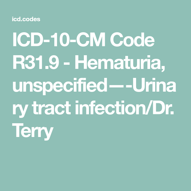Icd 10 Code For Urinary Tract Infection