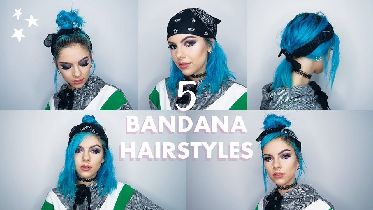 11 EASY BANDANA HAIRSTYLES FOR SHORT HAIR - YouTube in 11