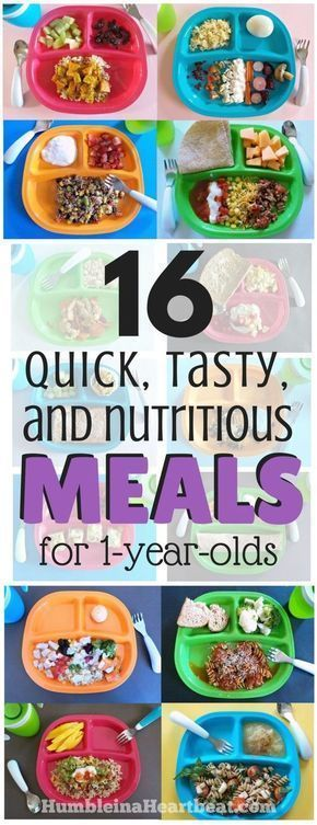 16 Simple Meals for Your 1-Year-Old that Will Make You SuperMom #meals