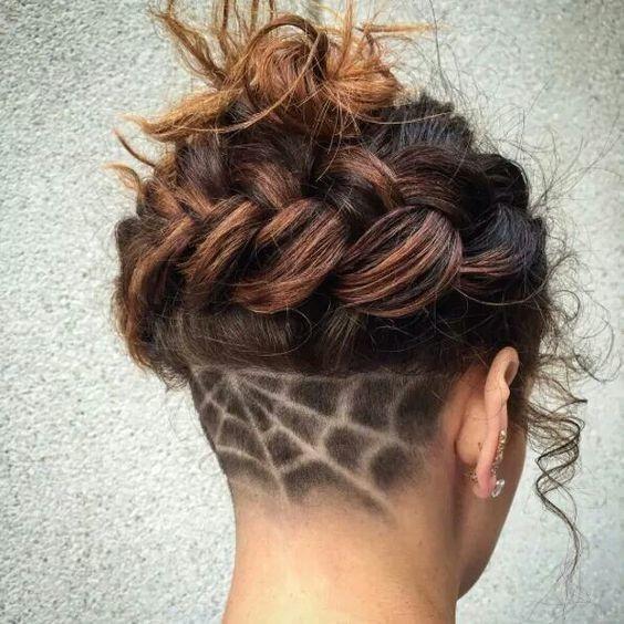 Spider Web Undercut Hairstyles Undercut Long Hair Shaved Hair Designs,Arizona Backyard Pool Designs