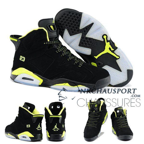 Nike Air Jordan 6 | Classique Chaussure De Basket Homme Noir/Jaune 2