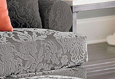 Stretch Jacquard Damask Two Piece Sofa Slipcover Damask