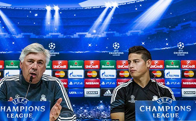 James Rodríguez habló del encuentro ante la Juventus y exigió respeto por Iker Casillas. Foto: EFE