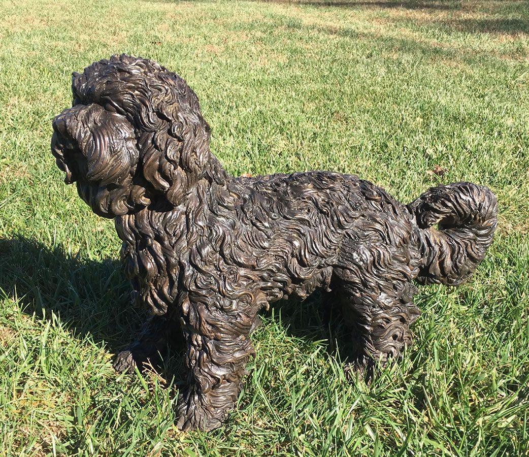 Bronze Maltese Dog Statue 23 L Bronze Pa5790 Dog Statue