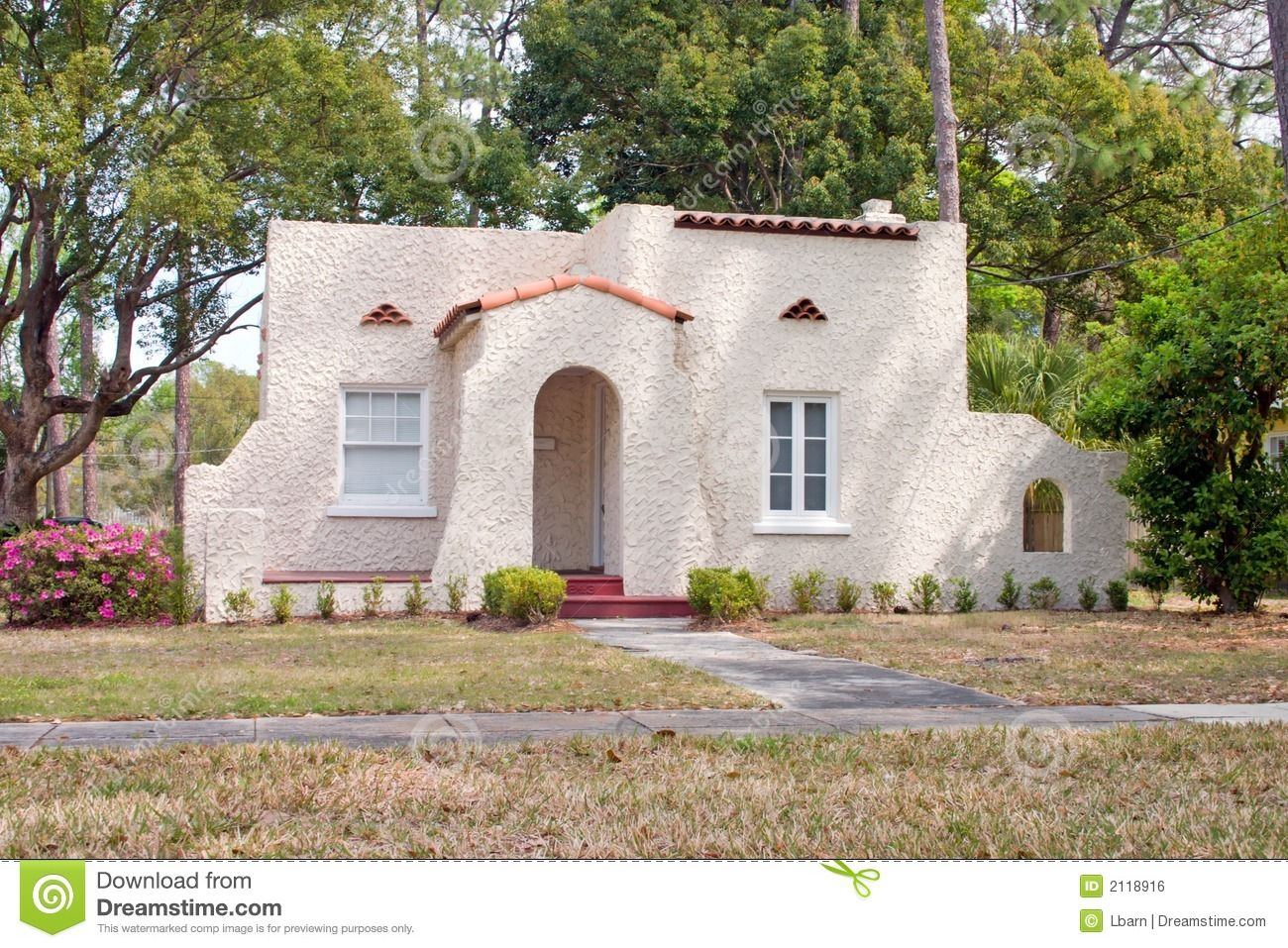 Spanish style homes royalty free stock image spanish for Spanish style tiny house