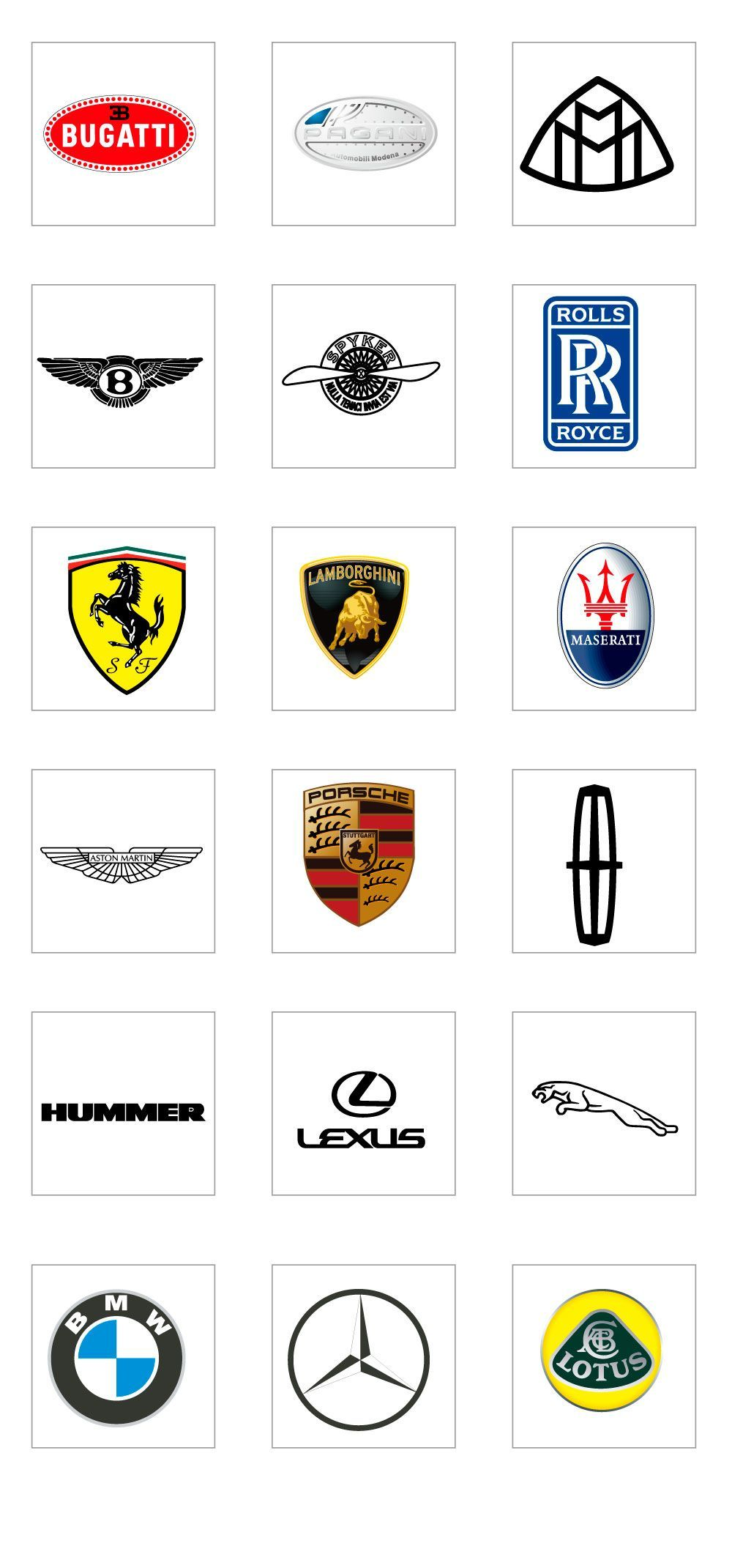 Luxury Car Logo Ai Vector In 2020 Luxury Car Logos Car Brands Logos Luxury Car Brands