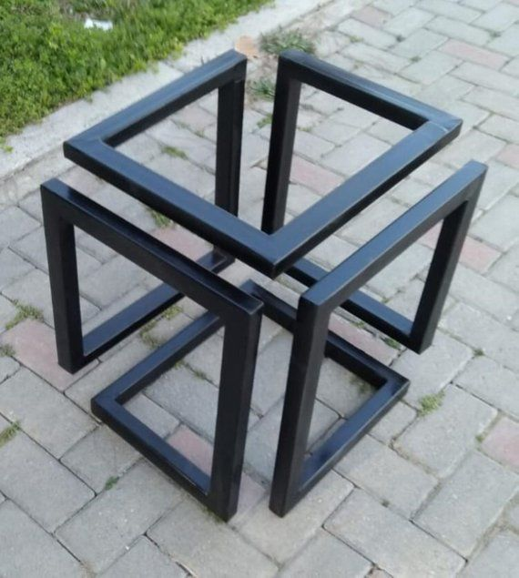 Metal Coffee Table Base Square Table Base Industrial Look Table Base Made To Order Coffee Table Metal Frame Welded Furniture Coffee Table Design