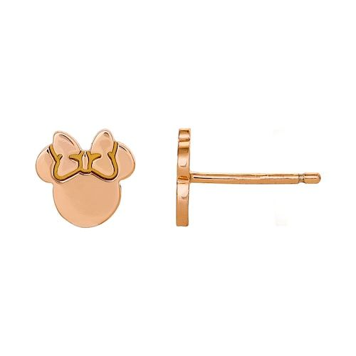 036a8f300 Disney Disney's Minnie Mouse Rose Gold Tone Crystal Stud Earrings in ...