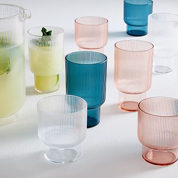 Fluted Acrylic Glassware Acrylic Glassware Glassware Glassware Set