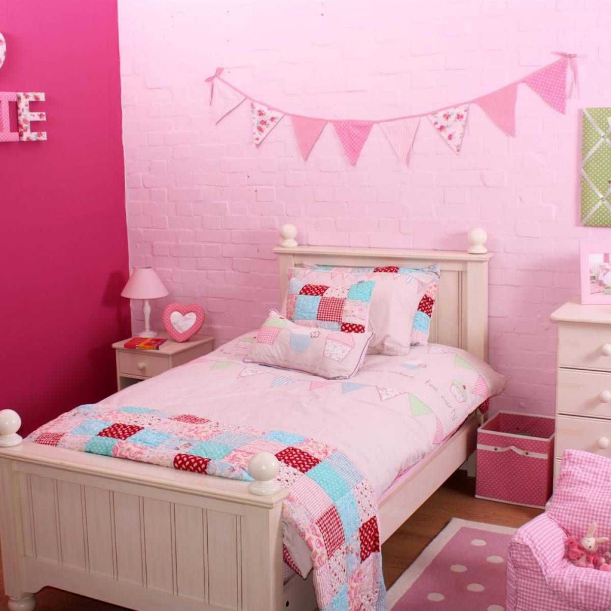 tea party single duvet set, also available in cot bed from