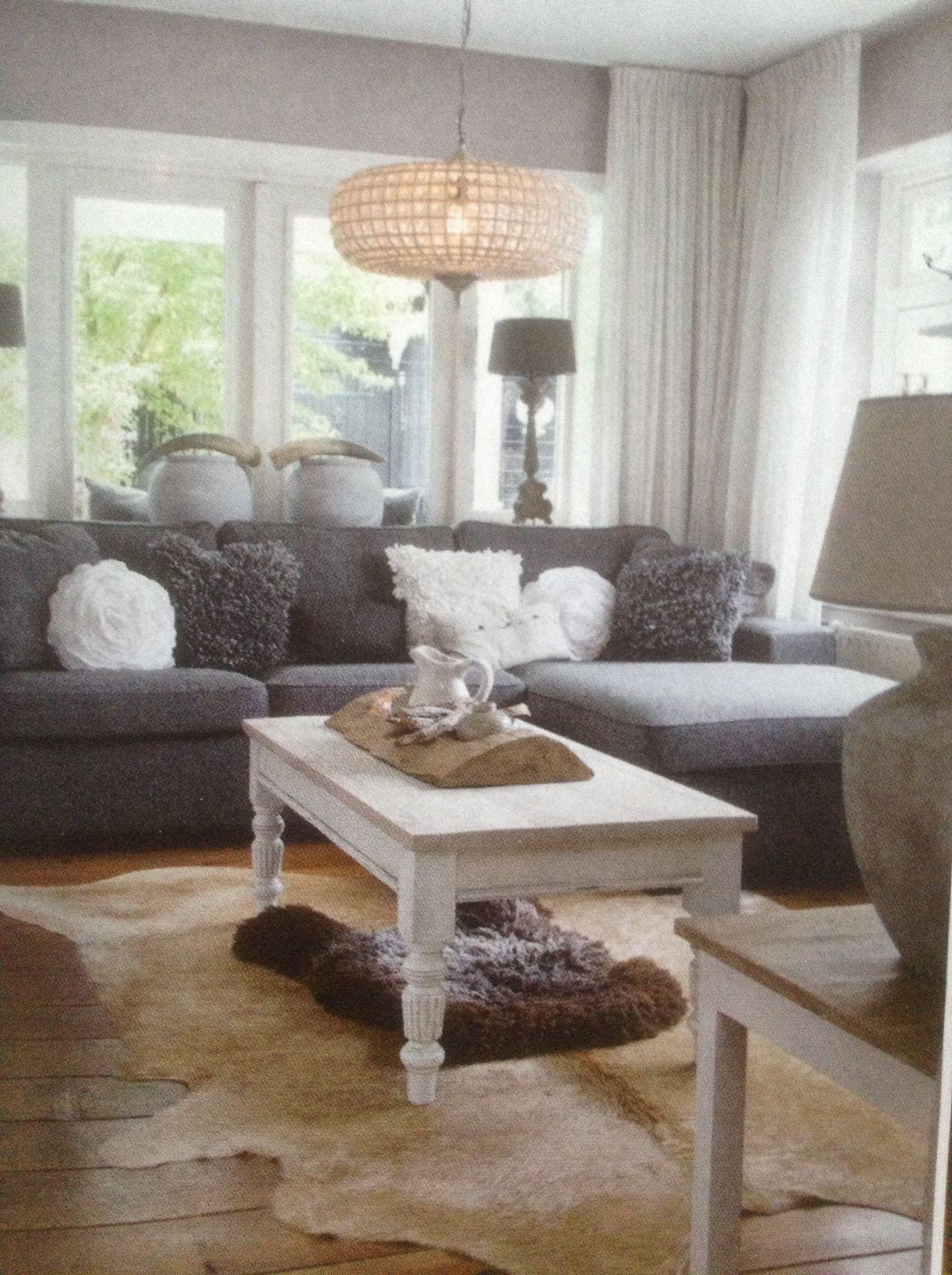 Sfeerplaatje woonkamer - wonen landelijke stijl- | Hoekbanken ...