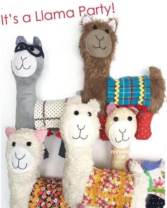 I\'m hosting a Little Llama Softie sew a long this week. Each day we ...