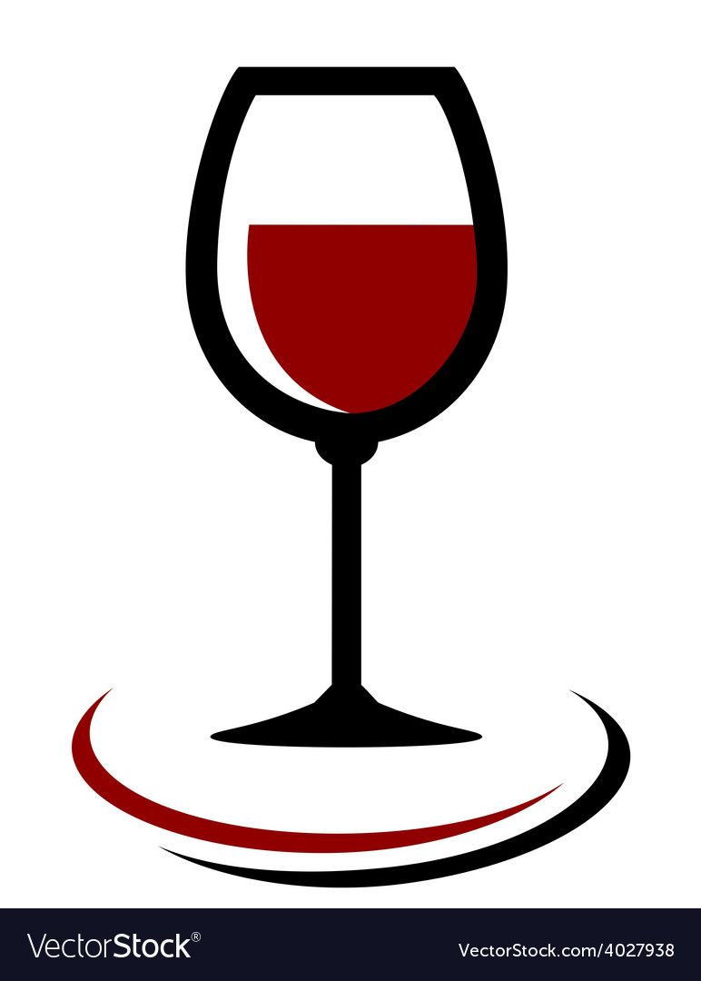 Red Wine Glass Icon Vector Image On With Images Red Wine