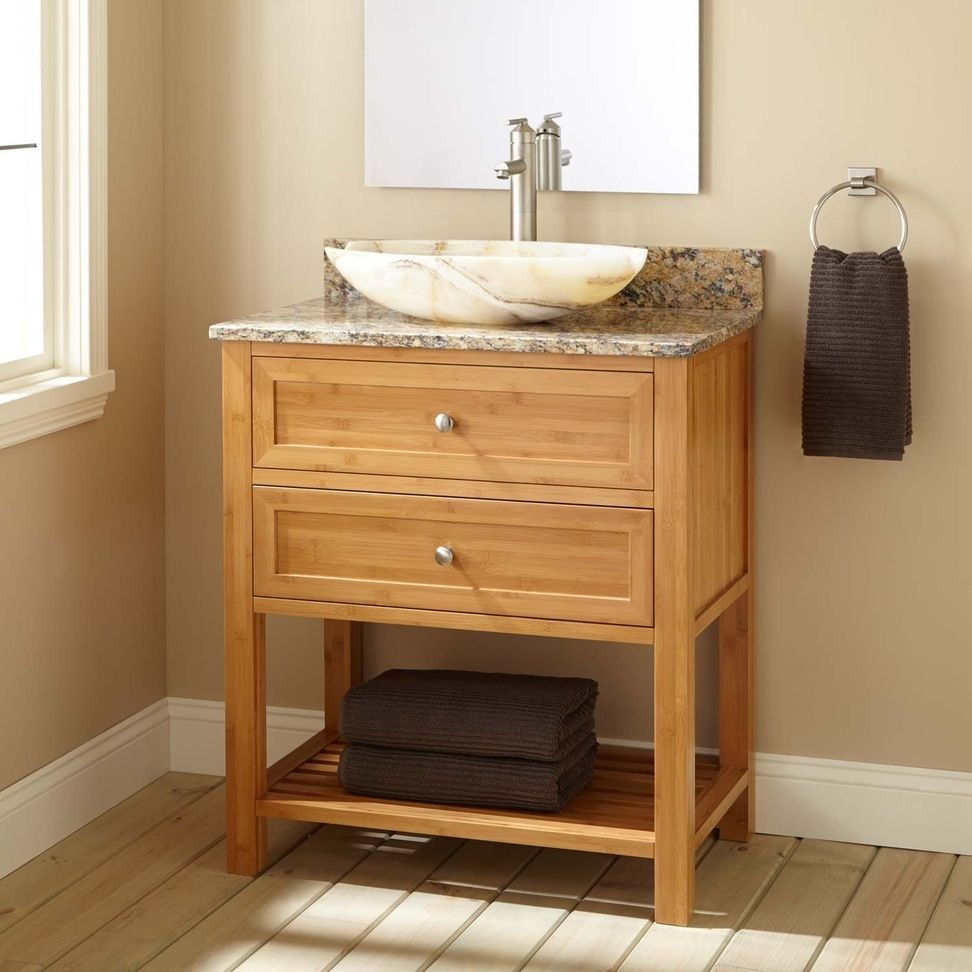 Knotty Pine Bathroom Vanity Cabinets