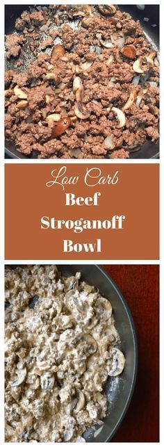 low carb beef stroganoff bowl