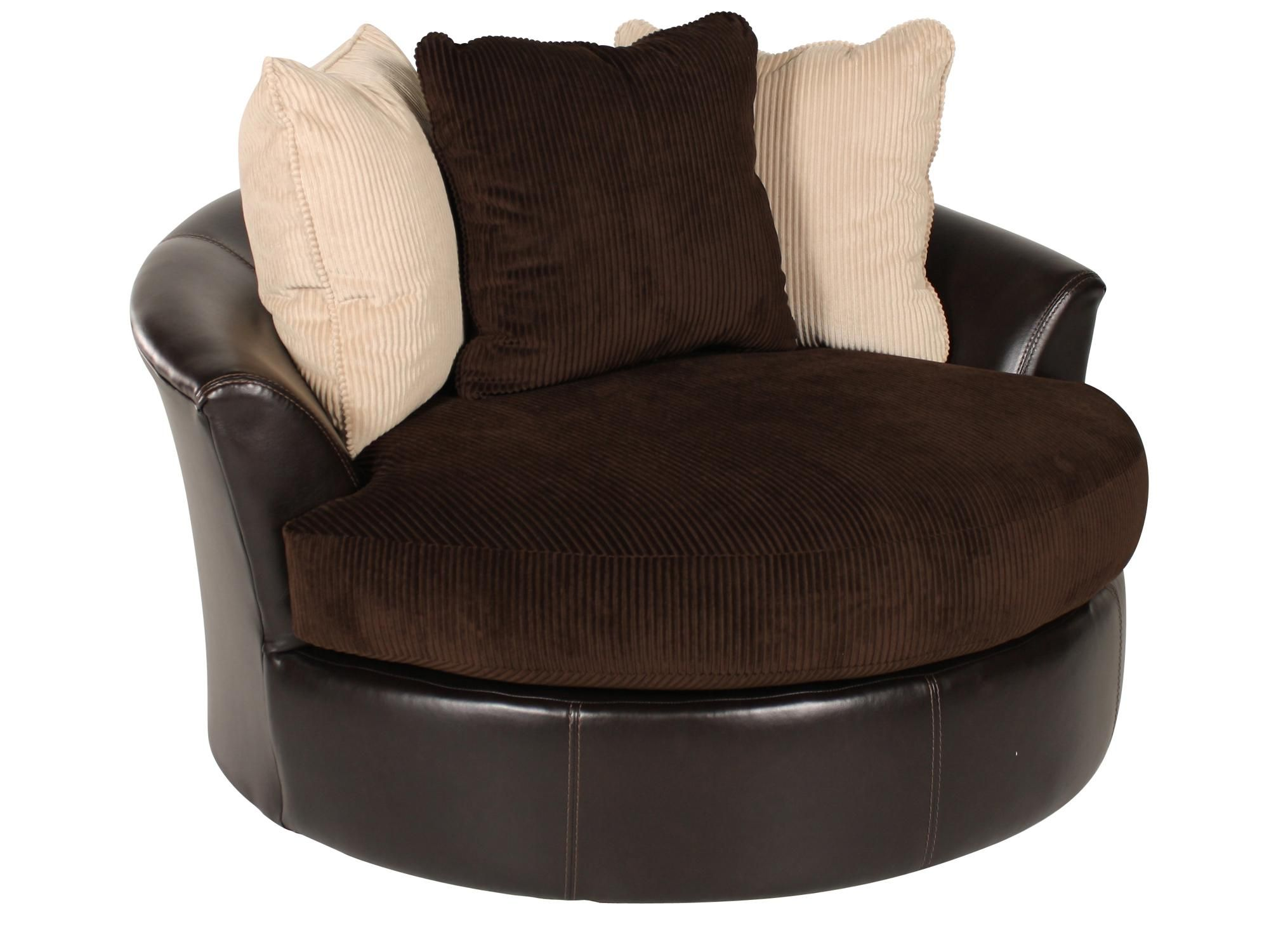 Runder Stuhl Ashley Viva Chocolate Swivel Chair For The Home Rundes Sofa