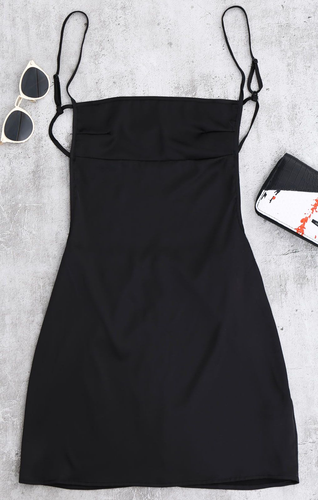 Backless Mini Slip Dress Black Sundress Cute Casual Dresses Mini Slip Dress Black Sundress [ 1596 x 1016 Pixel ]