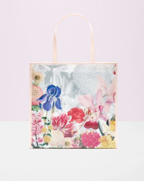 Encyclopaedia Floral Large Shopper Bag Ivory Bags Ted Baker