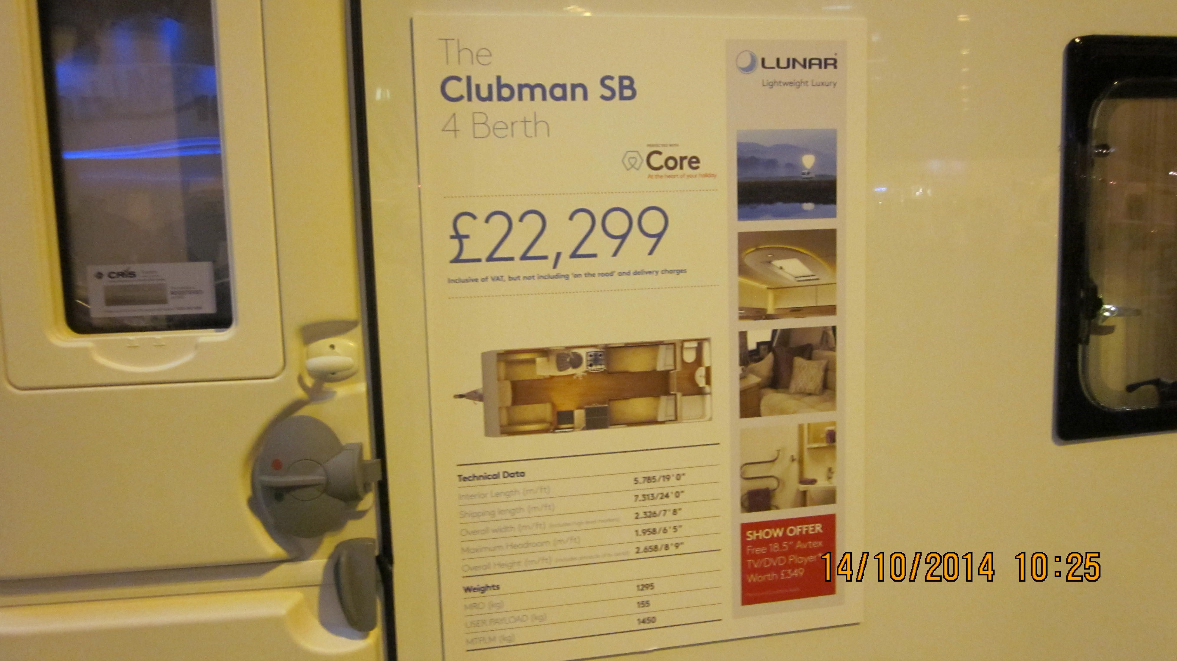 Lunar Clubman Sb Retails At 22299 It Has A Double Bed At Front