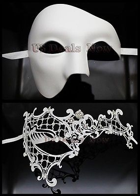 94adcd893bdd MANY Matching Couple Phantom Elegant Venetian Masquerade Mask for MALE &  FEMALE