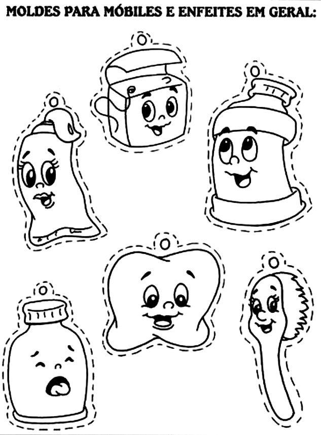 Muitas vezes Pra Gente Miúda: Moldes para móbiles - higiene | Atividades  ZB13