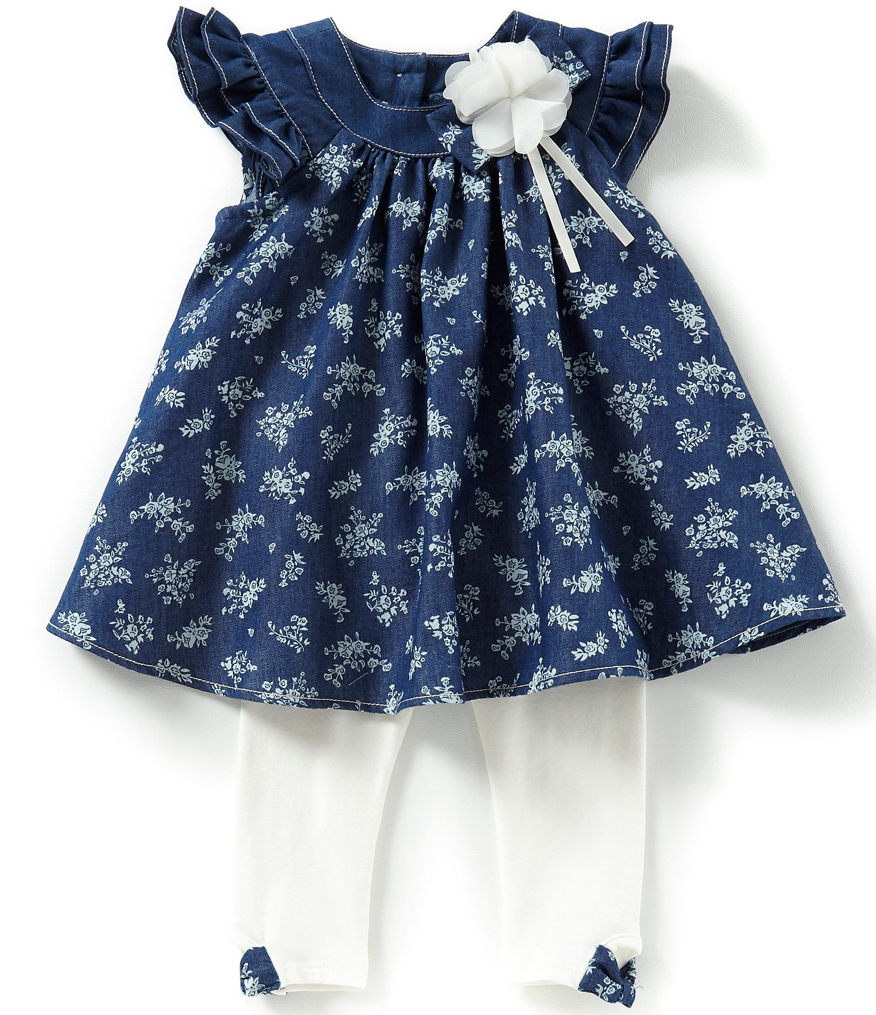 d17adacc8 Shop for Bonnie Baby Baby Girls 12-24 Months Floral-Printed Shift Dress &  Solid Leggings Set at Dillards.com. Visit Dillards.com to find clothing, ...