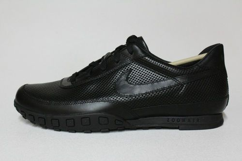 a6ed3bf5e98db4 Nike Waffle Racer 3 III All Black Zoom Air Leather Mens Classic Casual  Shoes New
