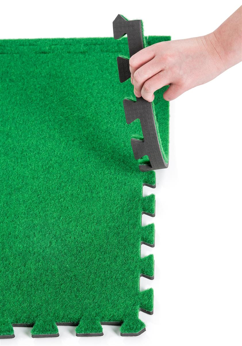 10 X 10 Interlocking Faux Grass Foam Mat Green Trade Show Flooring Soft Tiles Carpet Tiles