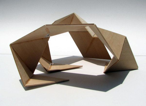 1 8 scale concept model illustrates two opposing forces of for Triangle concept architecture