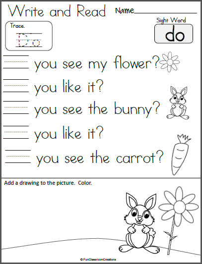 Free Write And Read Spring Worksheet Hfw Do Madebyteachers Freewriting Letter Writing Practice Lettering Practice