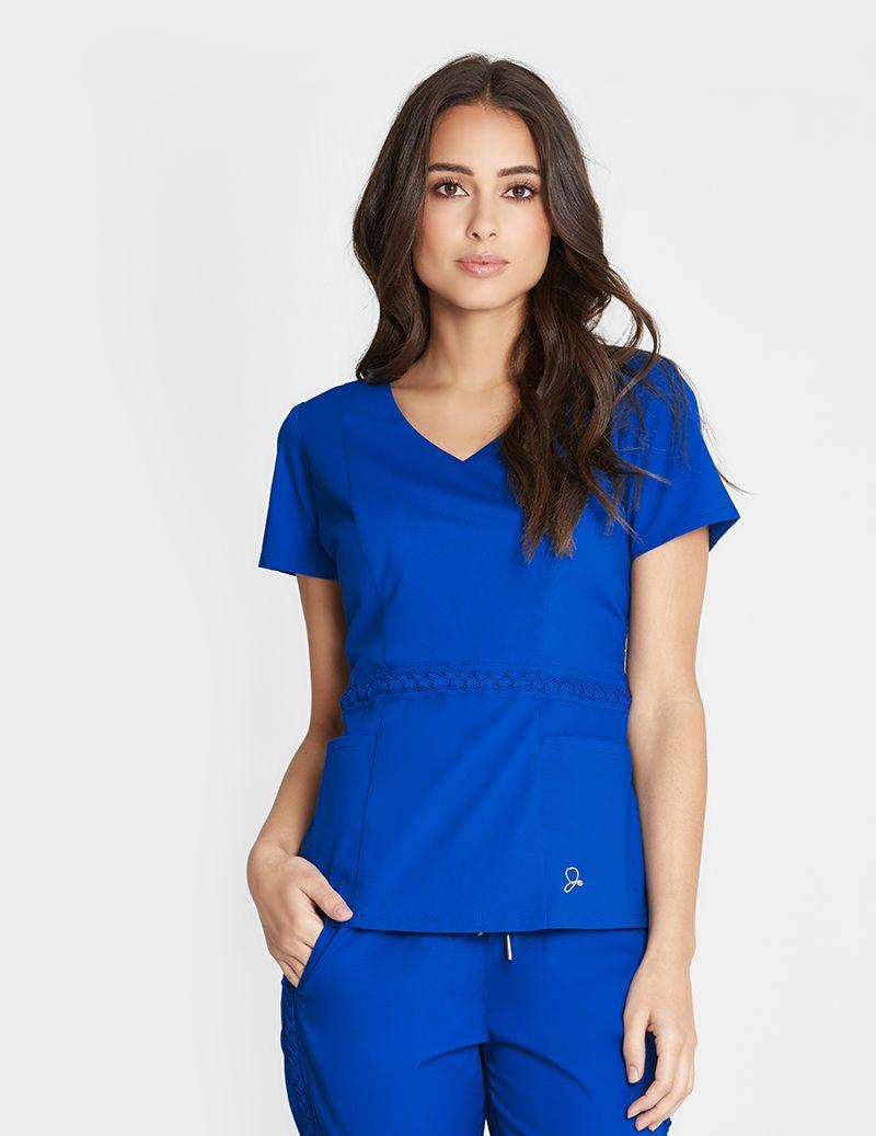 The Braided Top - Royal Blue | Womens scrubs, Womens scrub ...