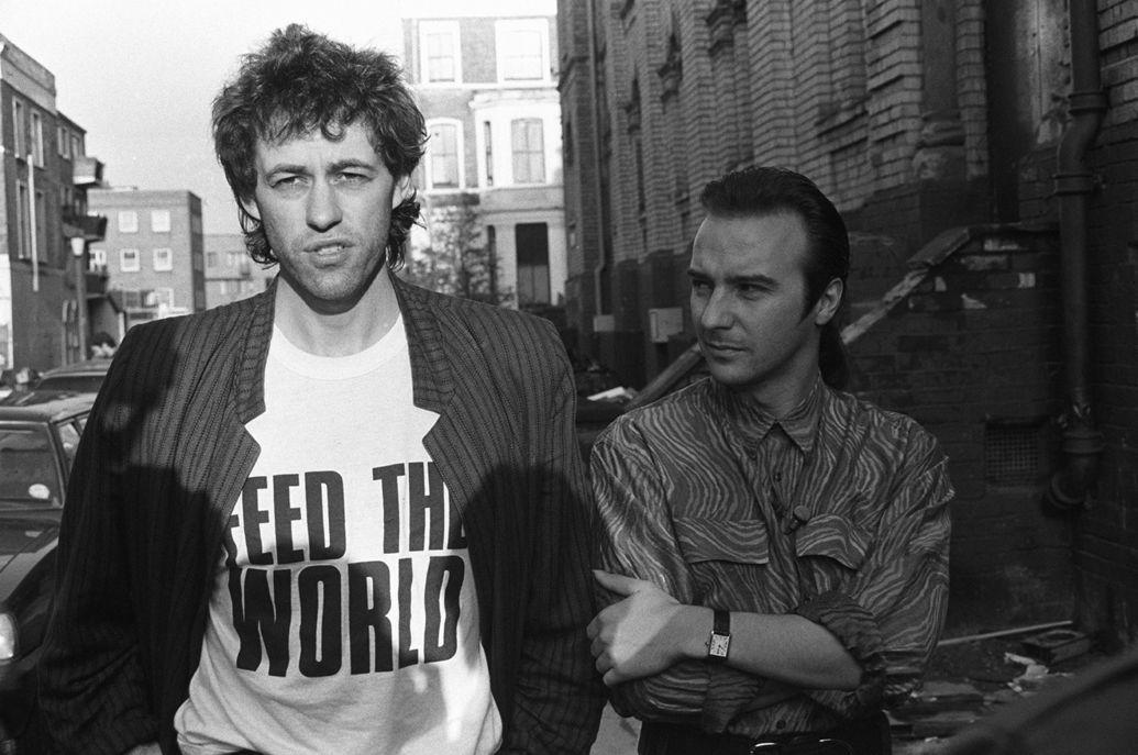 Erase Rewind Photo Bob Geldof Band Aid 1984 Band Aid