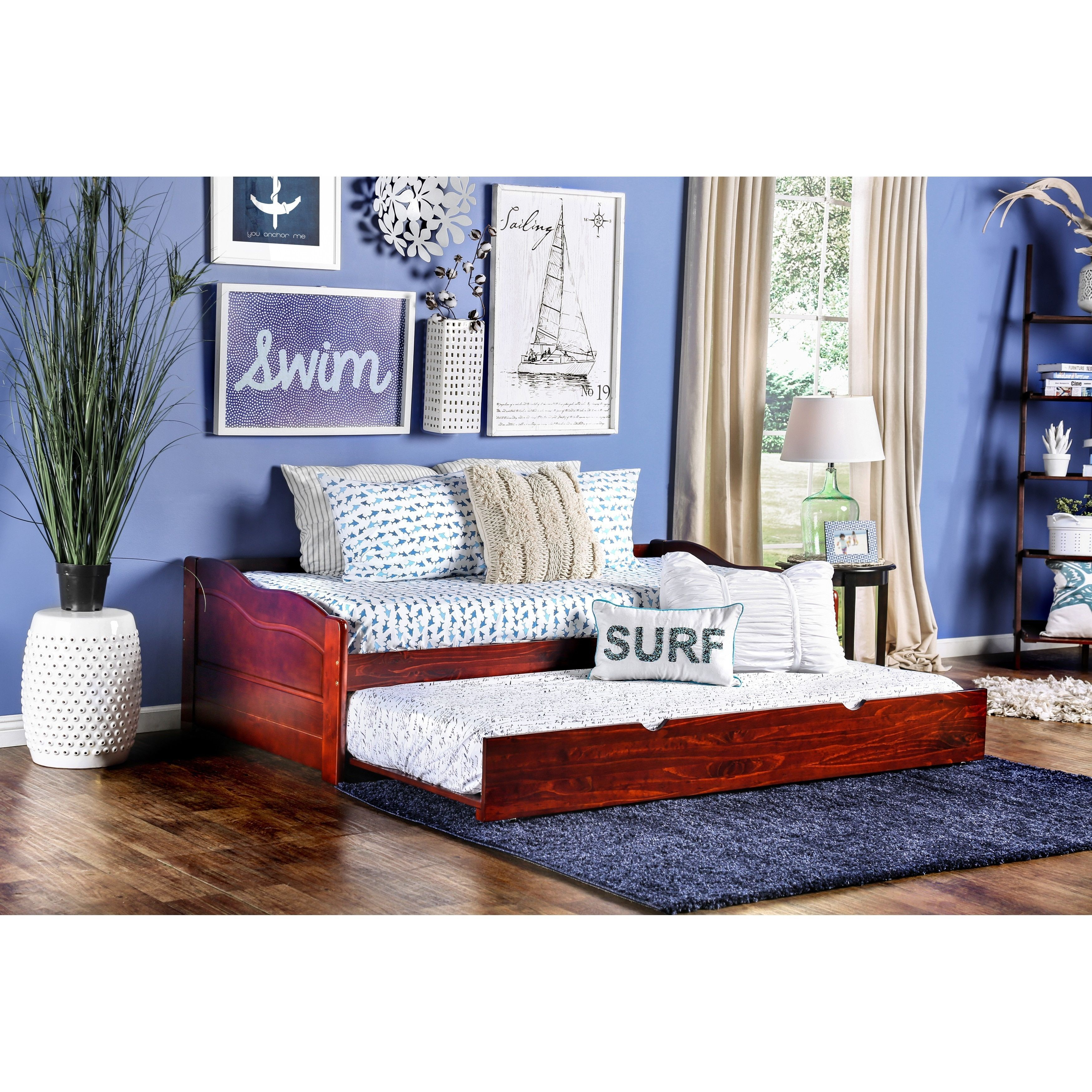 Furniture of America Bowiea Transitional Wooden Daybed with Twin ...