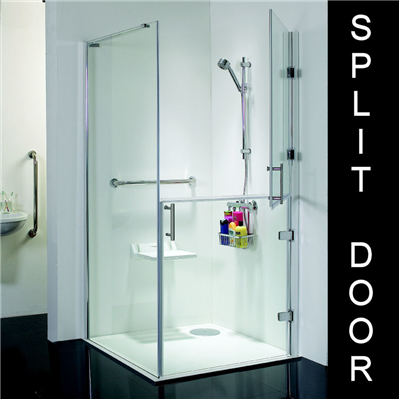 Disabled Bathroom Designs Access Split Shower Door Enclosure 900 X 900mm Banos