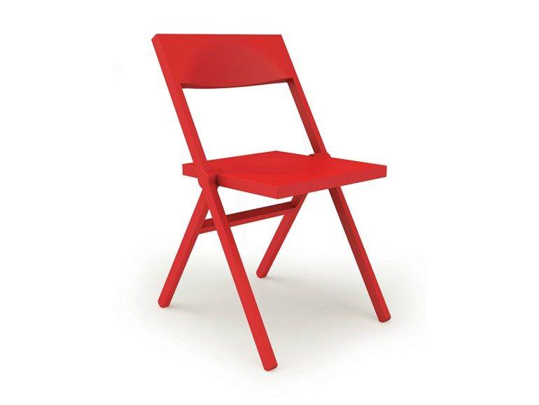 Sedie Pieghevoli Di Design.Sedia Pieghevole Piana By Alessi Design David Chipperfield Sedie