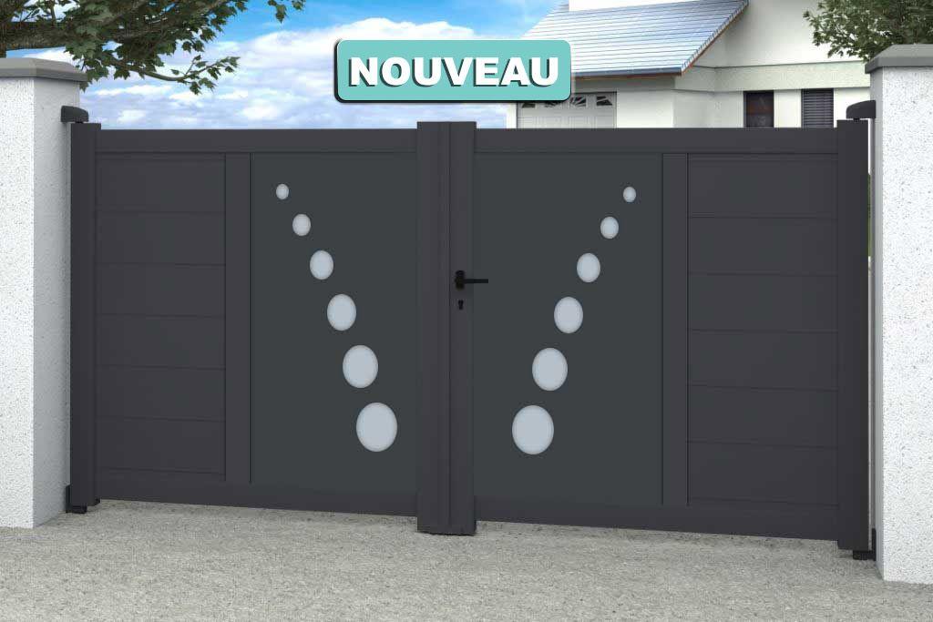 Portail Aluminium 2 Battants Toulouse Portail Portail Alu Menuiserie Exterieure